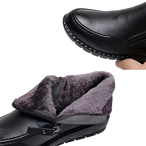HAIPENG Stivaletti Autunno E Inverno Antiscivolo Vestito Formale Taglia Larga Da Donna 4 Colori ( Colore : Black 2 , dimensioni : EU36/UK4/L:230mm ) Black 2