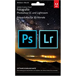Adobe Creative Cloud Foto-Abo mit 20GB: Photoshop CC und Lightroom CC   1 Jahreslizenz   PC/Mac   Key Card & Download