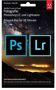 Adobe Creative Cloud Foto-Abo mit 20GB: Photoshop CC und Lightroom CC | 1 Jahreslizenz | PC/Mac | Key Card & Download