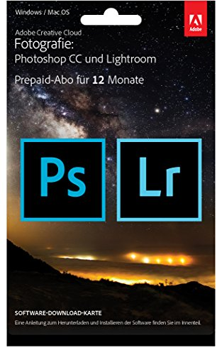 Adobe Creative Cloud Foto-Abo mit 20GB: Photoshop und Lightroom | 1 Jahreslizenz...