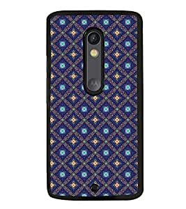 Fuson Premium 2D Back Case Cover Blue pattern With Blue Background Degined For Motoroal Moto X Style::Moto X Pure Edition