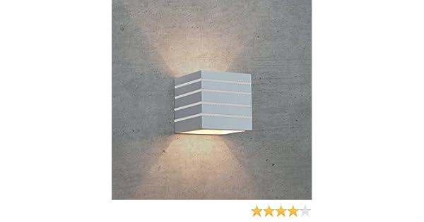 Futur print® applique led in gesso lampada da parete moderno con