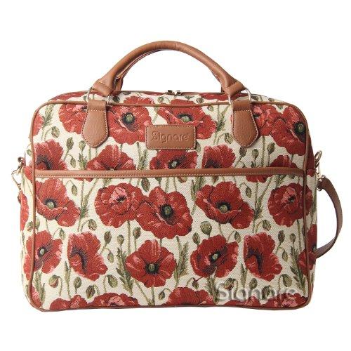 Signare mallette sac ordinateur portable tapisserie 15.6\