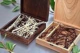 Holz Box (ohne USB), Print & USB Flash Drive Box Personalisieren Flash Drive Box Geschenk, Hochzeit Box Proof Box für Fotografie, Foto Box With Light raffia Dark