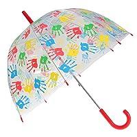X-brella Childrens/Kids Handprints Umbrella (One Size) (Pink)