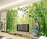 XLi-You 3D Tapete Fresko Benutzerdefinierte Großen Wandgemälden Frischen Bambus Landschaft Wandbild Tapete Wohnzimmer Fernseher Sofa Hintergrund Schlafzimmer Wandmalerei Hintergrundbild 200cmX150cm