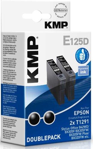 Preisvergleich Produktbild KMP E125D Tintenpatrone Double Pack, schwarz