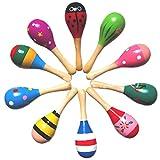 E Support Neu Holz Maraca Holz Rasseln Egg Shaker Kids Musical Party Favor Jugendliche Baby Shaker-Sand-Hammer-Spielzeug