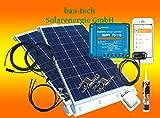 200Watt Wohnmobil Solaranlage mit Victron Laderegler und bluotooth smart Dongle von bau-tech Solarenergie GmbH