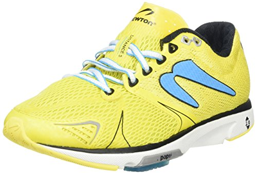 Newton Running Distance V Women's Shoe, Scarpe da Corsa Donna Giallo (Yellow/Blue)