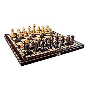 ajedrez A estrenar Cereza Damas de Madera Set 35cm x 35cm