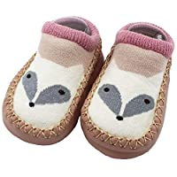 Falaiduo Unisex Cartoon Newborn Baby Girls Boys Shoes Anti-Slip Socks Slipper Shoes Boots 11 12 13 14 15 16