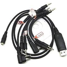 Yihaoel 6en 1USB Cable de programación para Icom ic-f7000IC-Fr3100IC-Fr4100IC-Gm1600E