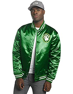 Mitchell & Ness Boston Celtics NBA HWC Wordmark Satin Bomber College Jacket Jacke