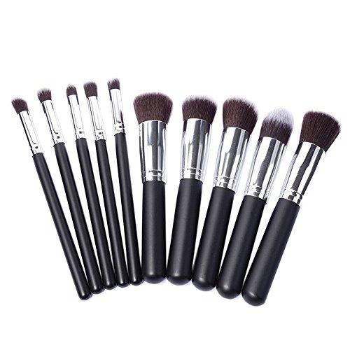 Pinceaux à maquillage,Honestyi Outil cosmétique 50PCS / 10PCS Outils de kits Pinceaux éponge à paupières (Noir#2, 10pcs)