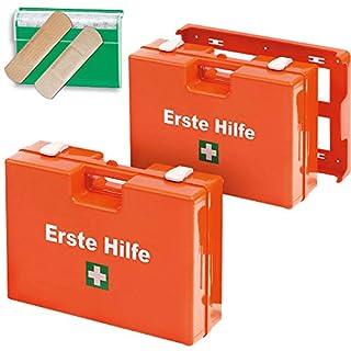 Erste-Hilfe Set, best. aus 2x Erste-Hilfe-Koffer mit Inhalt nach DIN 13157 u. 1 Pflasterspender