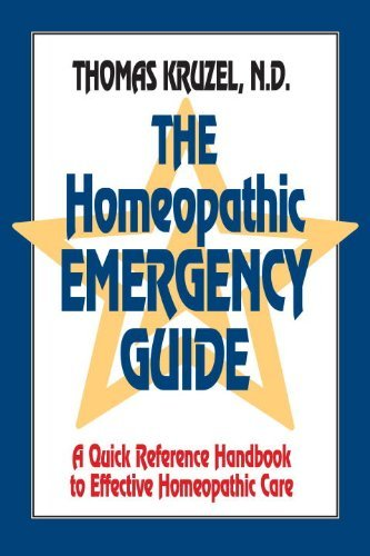 The Homeopathic Emergency Guide: A Quick Reference Guide to Accurate Homeopathic Care by Kruzel, Thomas (1993) Paperback