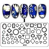 Berrose Nagelaufkleber Gemalt Stahlplatte Nagelpolitur Vorlage DIY Nail Art Stamping Platten Maniküre Schablonen Blumen Sticker Aufkleber Tips Dekorationen Nagelsticker