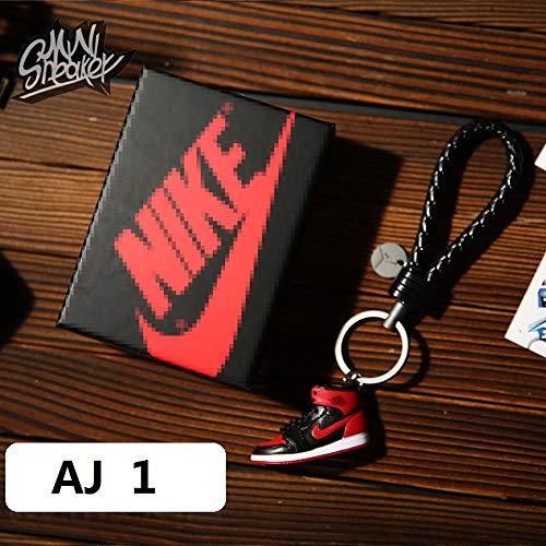 Fashion Mini Sneaker 3D Schlüsselanhänger Figur AJ1-20【1:6】 mit Box für Weihnachten Geschenk 1002 -