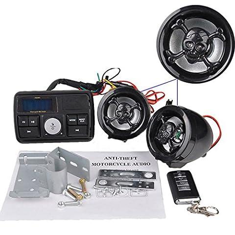MagiDeal Motor Handlebar Audio System USB/SD FM Radio Amplifier Speaker