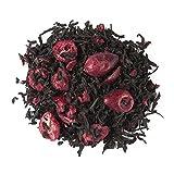Aromas de Té - Té Negro Frutos Rojos a Granel con Frambuesa Arándano Antioxidante Diurético sabor suave y dulce, 50 gr