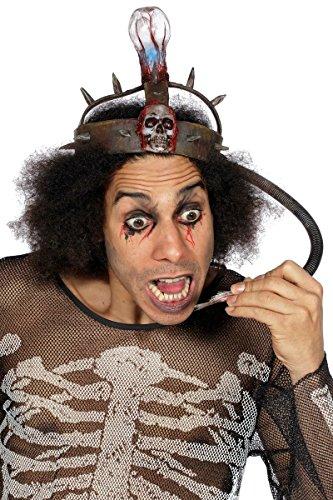 Elektrischer Stuhl Hut Kopfbedeckung Skelett Lampe zum Kostüm -