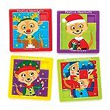 Baker Ross Jeux de Pousse-Pousse suricates festifs (Lot de 5), Petits Cadeaux à Glisser dans Les Pochettes-Surprises ou Les Chaussettes de Noël des Enfants
