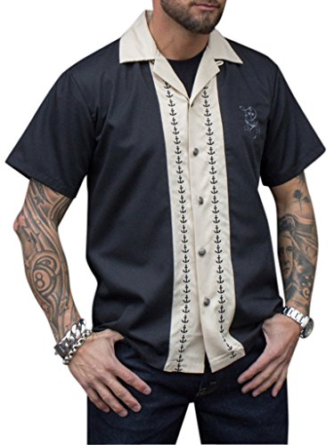 Rumble59 - Lounge Shirt - Let go anchor (Baumwolle Rock Button-fly)