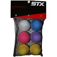 STX Bolas de Lacrosse en bolsa de malla (Pack de 6), colores surtidos