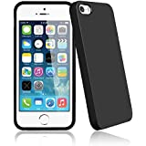 Bingsale TPU Jelly snap on Gel Soft Hülle Case Tasche schutzhülle für Apple iPhone SE 5S 5 in Schwarz (iPhone 5S, schwarz)
