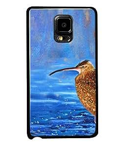 Printvisa Designer Back Case Cover for Samsung Galaxy Note Edge :: Samsung Galaxy Note Edge N915Fy N915A N915T N915K/N915L/N915S N915G N915D (Waterfall Lake Sparrow Falcon Raining)