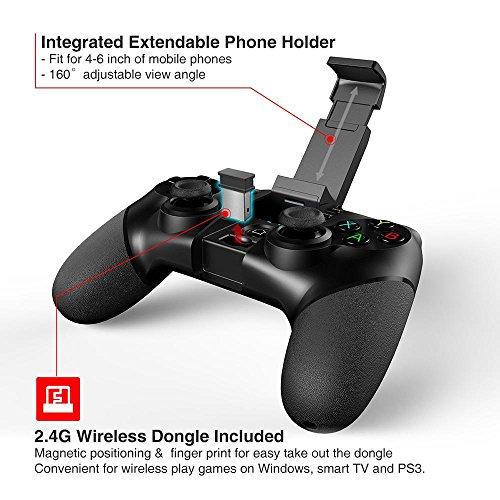 Preisvergleich Produktbild LAY Gamepad,  drahtloser Bluetooth-Controller Anwendbare Ausrüstung Smartphone / Tablet / Smart-TV,  Set-Top-Box / PC / PS3-Spielekonsole