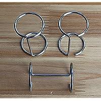 Umei Pack of 40 units Silver Metal Calendar Ring Binders for Desk Calendar
