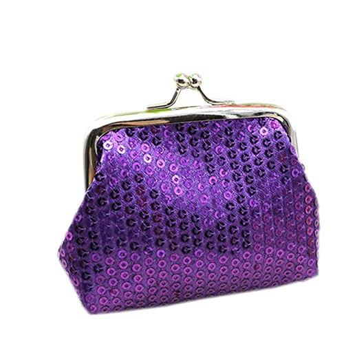 Daojian Purse Sequin Wallet Coin Bag Case violet