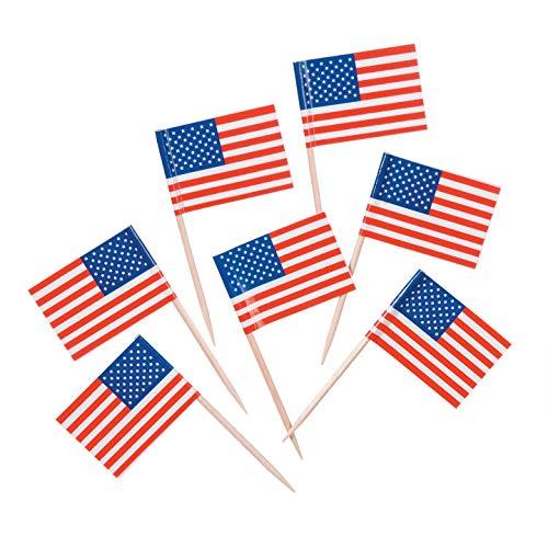 Bulk Buy: Darice DIY Crafts USA Flagge Zahnstocher 100Stück (12Pieces) 5300-99