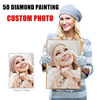 Diamond Painting Custom Photo Diamond Embroidery Kits Personalized Full Drill DIY 5D Crystal Rhinestone Pictures by Number Kits