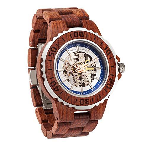 Wilds Herren Holz Uhr Automatikuhrwerk mit, Sonstige Materialien Armband, Infinity - Standard-traditionellen Holz