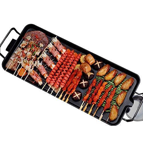 LINLIN Teppanyaki Elektrische Grillplatte Haushalt Nichthaftender elektrischer Grill Einfache Reinigung und Thermostat-Auffangschale Grillgrill,68 * 28CM -
