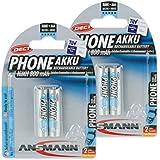 Ansmann Maxe DECT Micro 4x AAA type de batterie 800mAh autodécharge faible Phone Batterie pour téléphones sans fil (4Pack)
