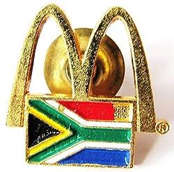 Mc Donalds - Südafrika - Logo & Flagge - Pin 19 x 19 mm