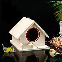 LA VIE Casa para Pajaros Caja Nido para Loro Agapornis Canario Caja de Cría de Pajaros Artículos de Incubación Refugio de Aves Bird Parrot House Nest Accesorios de Decoración 02