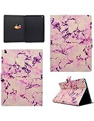 """Coque iPad 2017 iPad 9.7"""", BONROY® Smart Case Coque pour iPad 9.7 2017 TPU Souple Bumper Fermeture Magnétique avec Function Veille Automatique Etui Housse Case Cover pour iPad 9.7 2017 - marbre rose"""