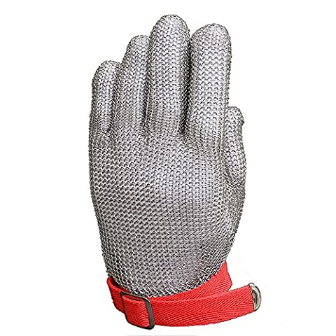 Anself 304L Stainless Steel Protective Glove Mesh Knife Cut Resistant Chain Mail for Kitchen Butcher Working Safety