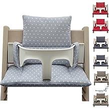Juego de asiento y cojín acolchados (revestidos) para bebé de Blausberg para la trona Stokke Tripp Trapp