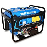 Wolf Professional WPX3200E 3200 Watt, 6.5HP, 4 KVA, 115V / 230V Heavy Duty Electric Start Dual Voltage Petrol Engine Powered Generator – With Push Button Start, AVR & Low Oil Sensor