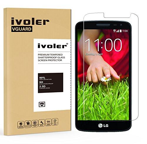 VGUARD LG G2 Mini Panzerglas Schutzfolie, Panzerglasfolie Folie Bildschirmschutzfolie Hartglas Gehärtetem Glas BildschirmPanzerglas Schutzfolie Bildschirmschutz für LG G2 Mini