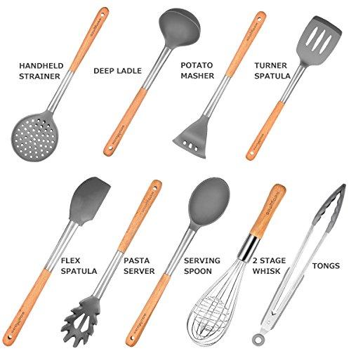 Godmorn Set di Utensili da Cucina (9 Pezzi), Utensili da ...
