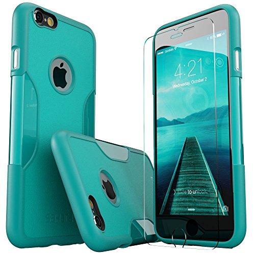 iPhone 6 Plus Hülle, (Türkis Grün) SaharaCase Schutz Kit Paket mit Null Schaden [ZeroDamage gehärtetes Glas Bildschirmschutz] Robuster Schutz Anti-Rutsch-Griffigkeit [Stoß sicherer Puffer] Schlanke Passform (Iphone 6 Att 16gb Verwendet)
