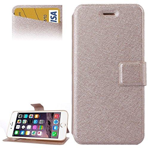 Phone case & Hülle Für IPhone 6 Plus / 6S Plus, Silk Texture Horizontale Flip Leder Tasche mit Card Slots & Halter ( Color : Magenta ) Gold