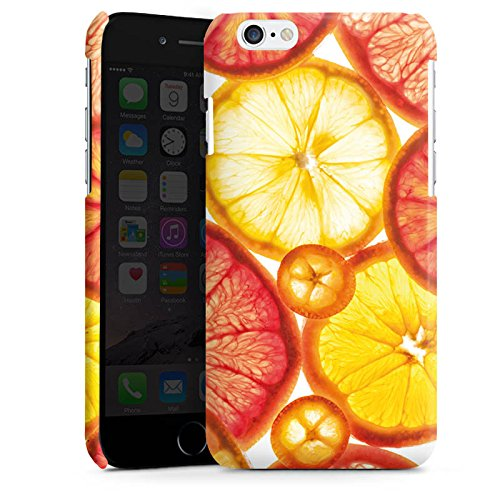 Apple iPhone 4 Housse Étui Silicone Coque Protection Citron Orange Été Cas Premium brillant